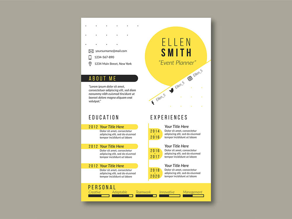 Free Event Planner Resume Template
