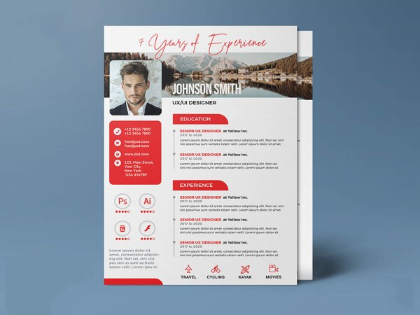 Free Experienced Resume Template