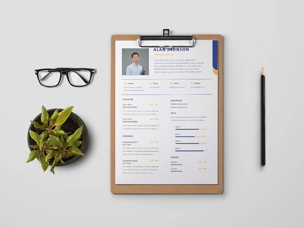 Free Graduate Accountant Resume Template