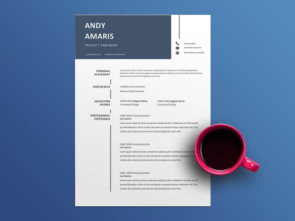 Free Project Engineer Resume Template