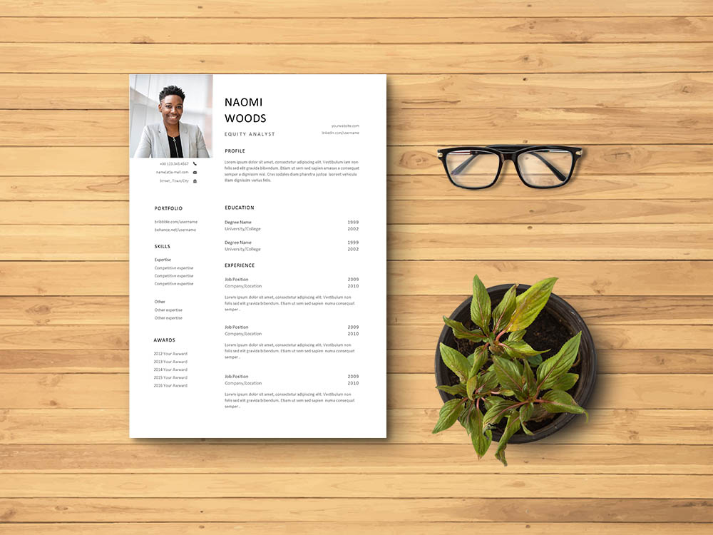 Free Equity Analyst Resume Template