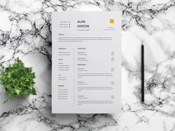Free finance Clerk Resume Template
