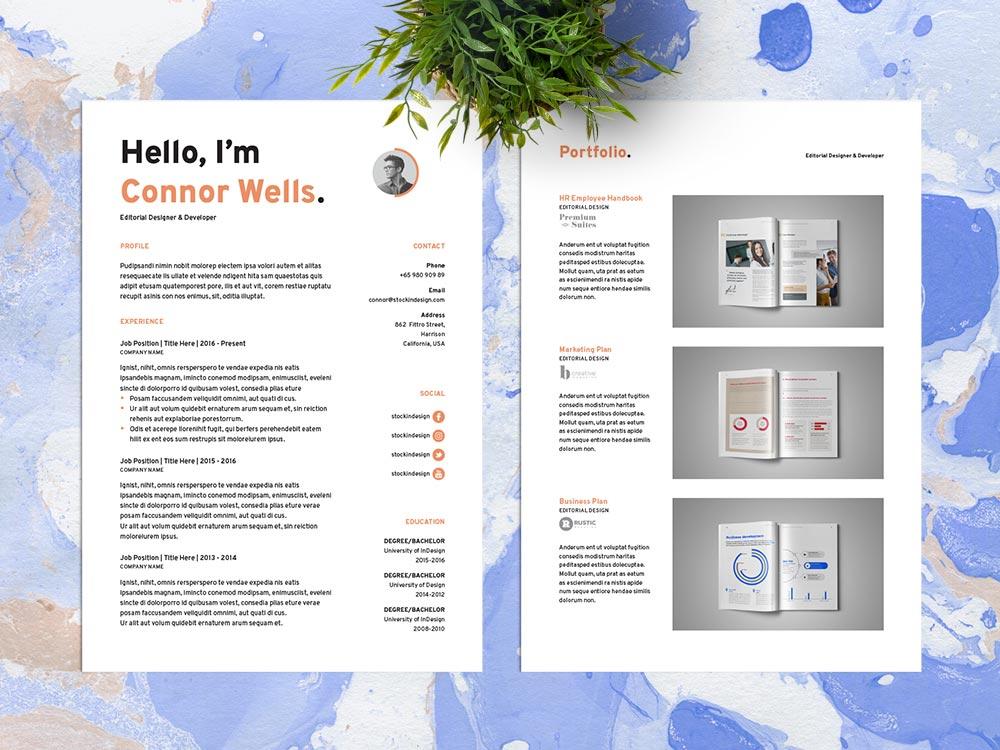 Free Editable Indesign CV Resume Template