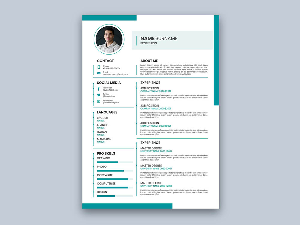 Free Green Resume Template