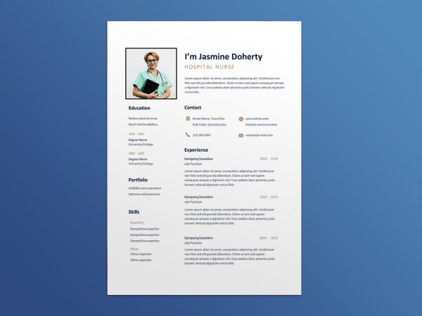 Free Hospital Nurse Resume Template