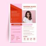 Red Pink Resume