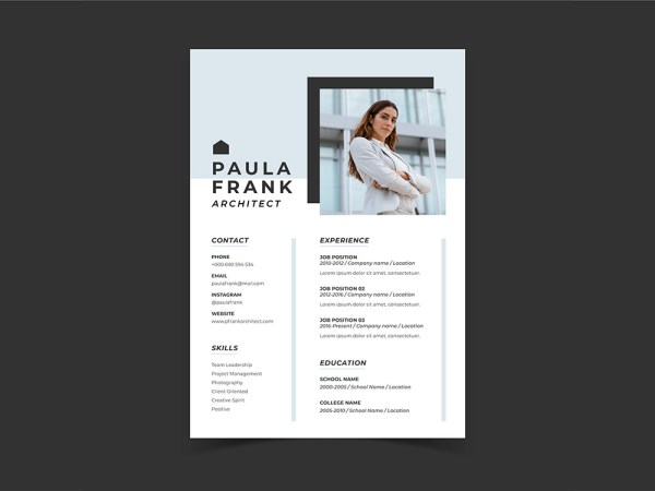 Free Simple Architect Resume Template