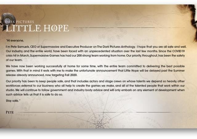 The Dark Pictures Anthology-Little Hope