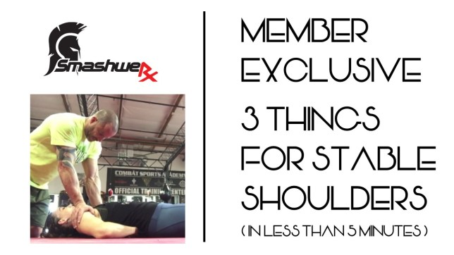 Exclusive video 3 things for stable shoulder in 5 minutes 1.11.201999