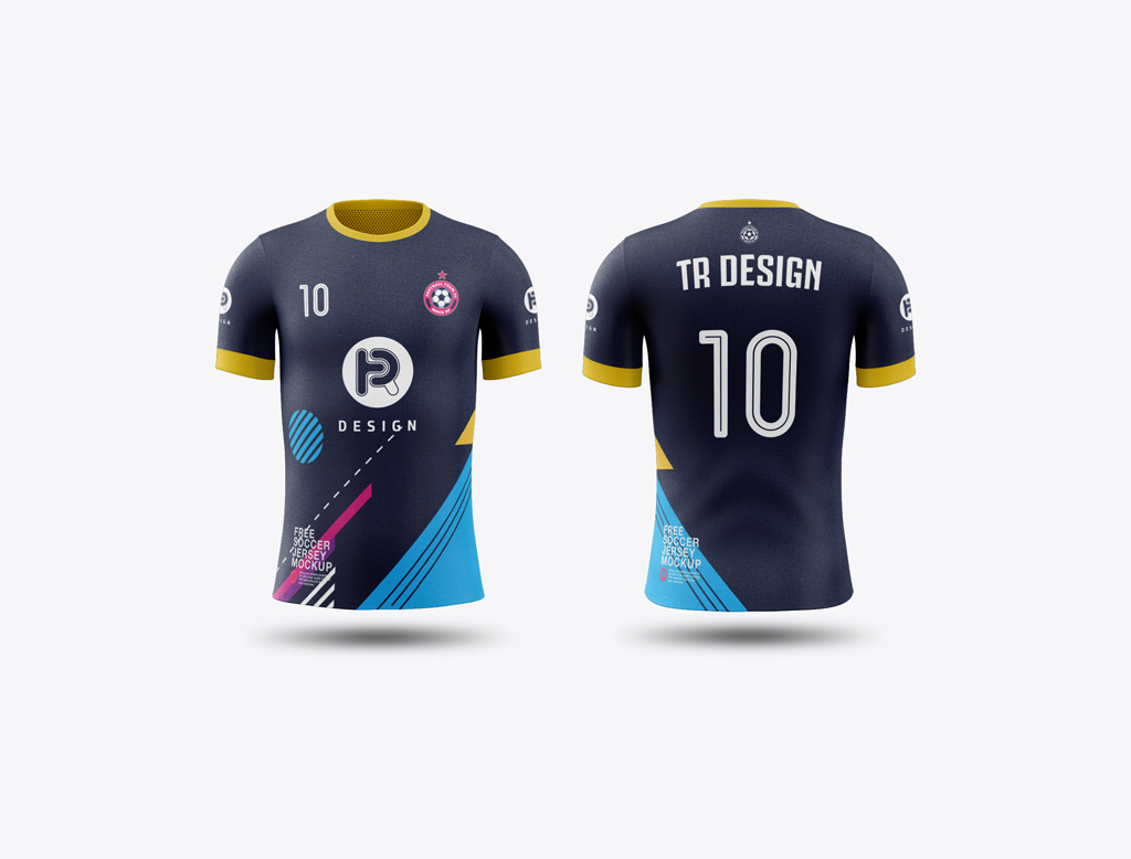 Download Free High Quality Football Jersey Mockup - Free Download