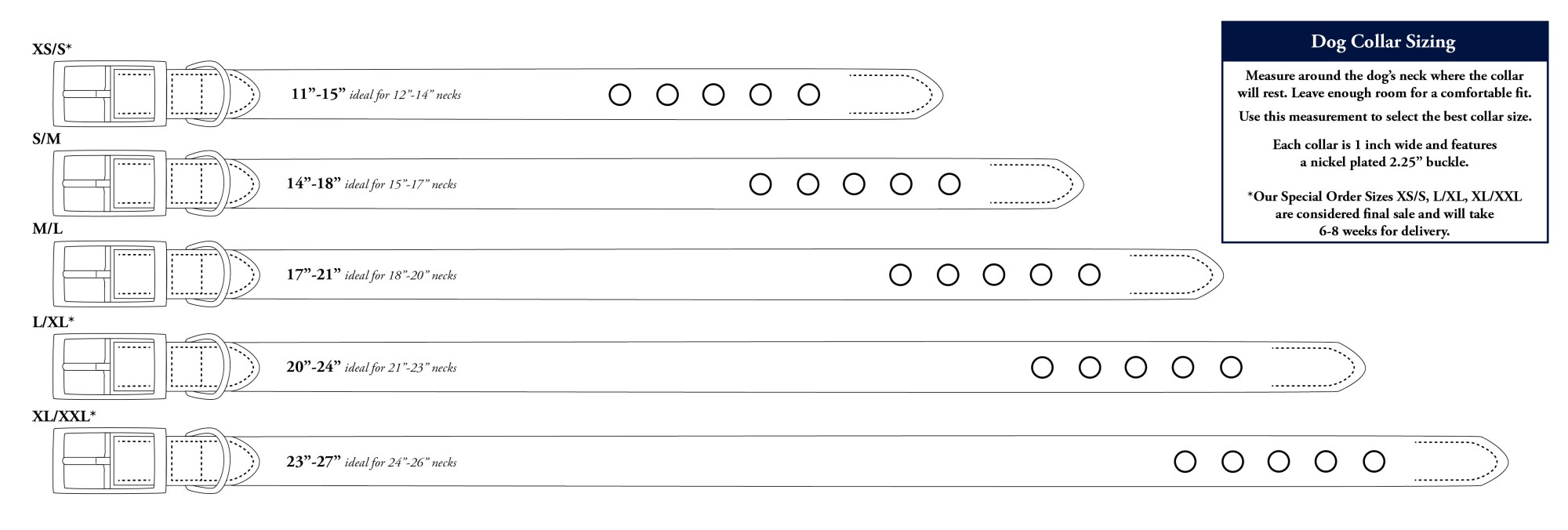 hight resolution of dog collar sizing chart