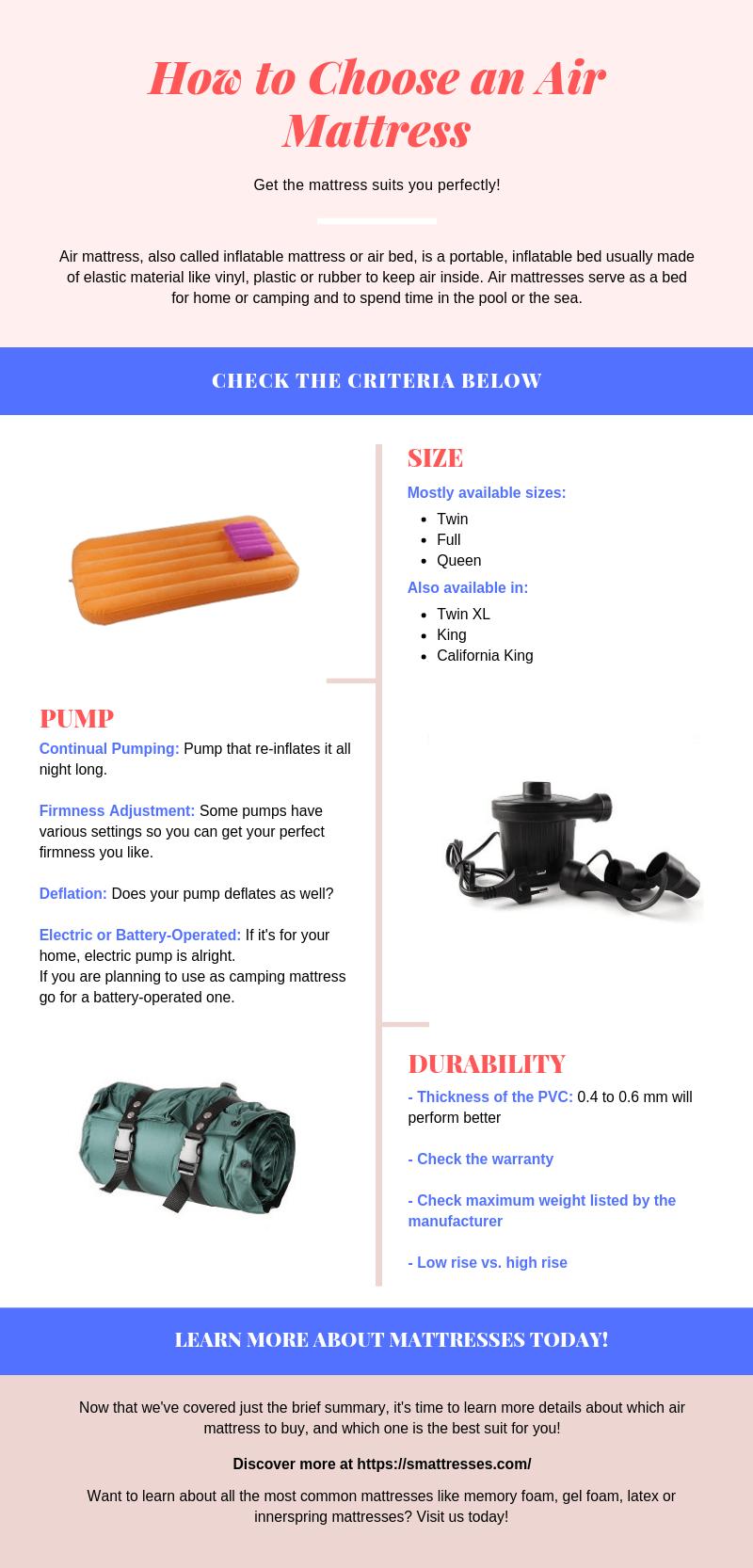 How to Choose Air Mattress