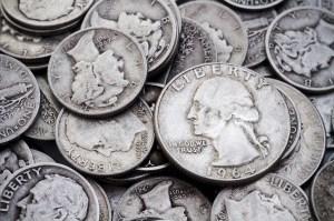 pre 1965 silver quarters and dimes