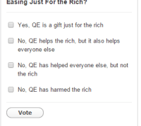 poll is qe only for the rich