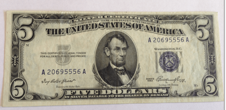 Federal Reserve Notes, Silver Certificates & Legal Tender Notes