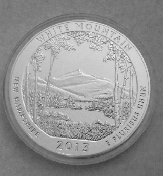 america the beautiful white mountain 2013 silver coin