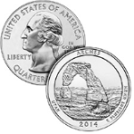 Arches america the beautiful coin