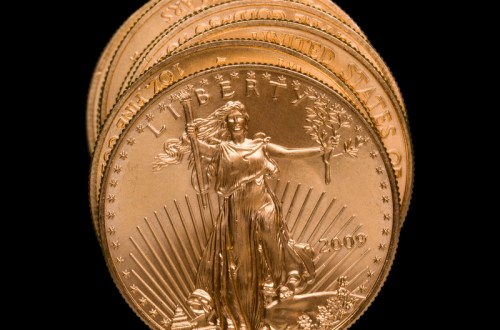 gold american eagle 2009 coincanstockphoto7875731