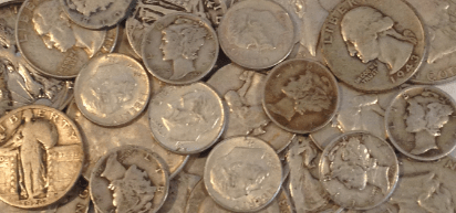 photo of pre 1965 U.S. silver coins