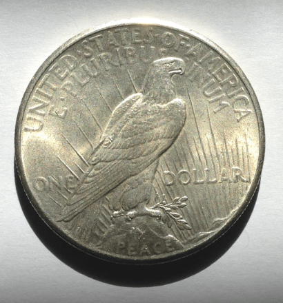 Peace Silver Dollar reverse