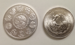 Mexican libertad silver coins reverse