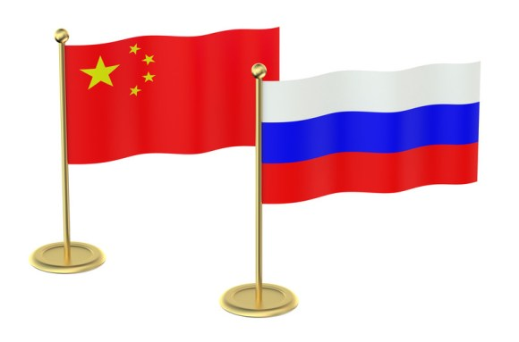 Russian and Chinese flags canstockphoto29537577