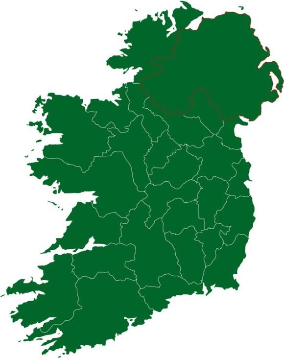 irish map