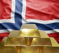 Norwegian flag and gold