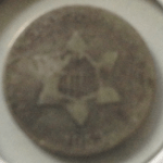 Three cent silver piece front