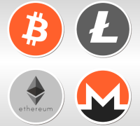 digital currencies bitcoin litecoin monero ethereum