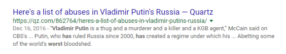 Google search results Putin list of abuses