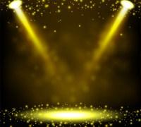 gold spotlight