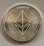 Ethereum silver coin front
