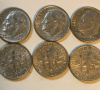 90% silver Roosevelt dimes for sale