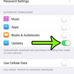 enable automatic app updates on an iphone 6