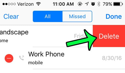 delete a call on an iphone 5
