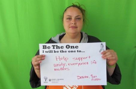 Help support unity, everyone's life matters - Desiree, San Mateo