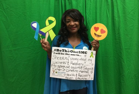 Shear my story about my wellness & recovery……& to speak out against stigma when it comes to mental health & recovery. – Renee, East Palo Alto