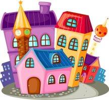 cartoon houses