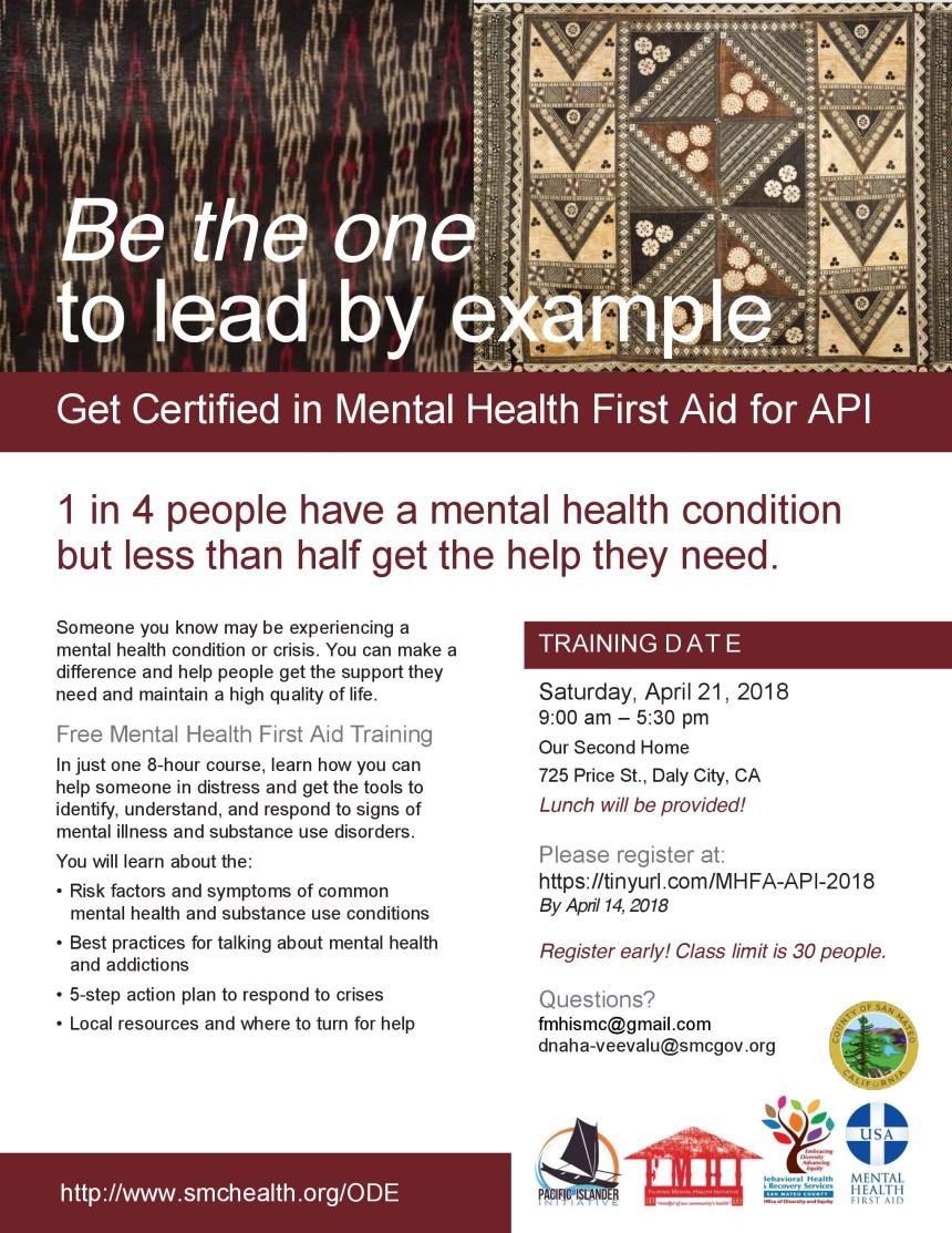 Fmhi And Pii Collaborate To Host 1st Mental Health First Aid For Api