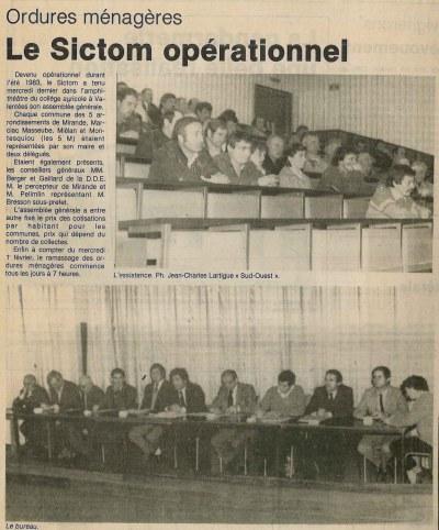 Assemblée générale du 25 janvier 1984