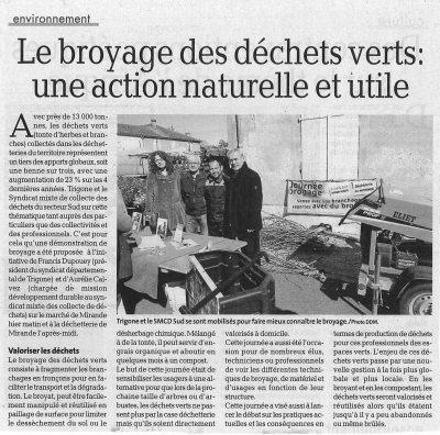 Le broyage des déchets verts : une action naturelle et utile - La Dépêche du Midi