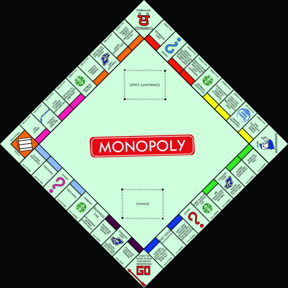 medium resolution of modern monopoly board