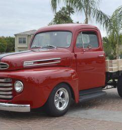 1948 ford f1 stake bed pickup truck custom street hot rod [ 1600 x 1066 Pixel ]