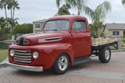 small resolution of 1948 ford f1 stake bed pickup truck custom street hot rod