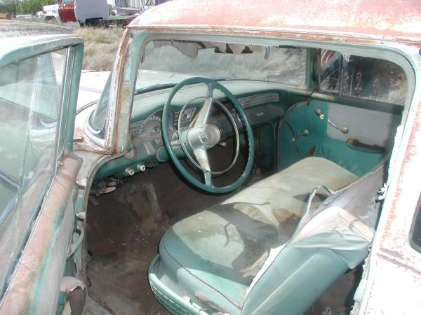 55 Chevy Front Bench Seat Back - Year of Clean Water