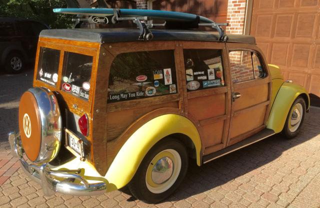 1965 Vw Beetle Woodie Wagon Woody Vwoodie Classic