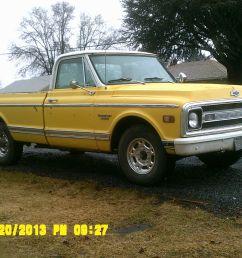 1969 chevrolet c20 custom pickup 5 7l solid original survivor 3 4 ton straight [ 1600 x 1200 Pixel ]