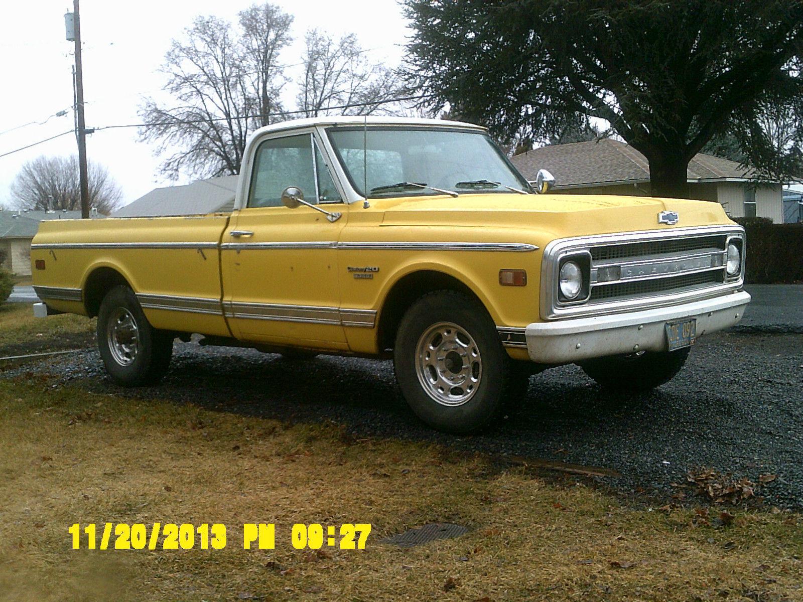 hight resolution of 1969 chevrolet c20 custom pickup 5 7l solid original survivor 3 4 ton straight