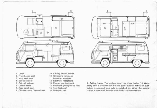 1972 Volkswagon (VW) Camper/Van/Westfalia/Campmobile 1.7L